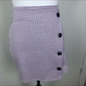 Juniors Joe Boxer Black Plaid Mini Skirt